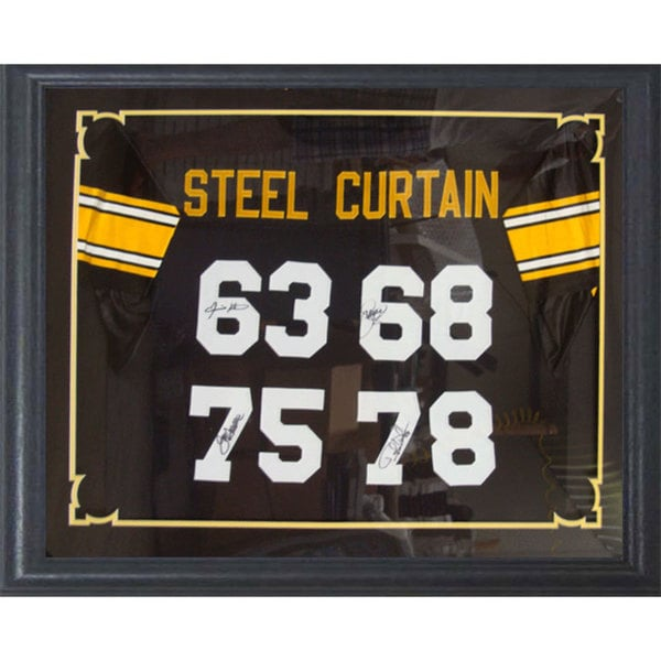 Framed Pittsburgh Steelers Steel Curtain Autographed Jersey (30 x 34)