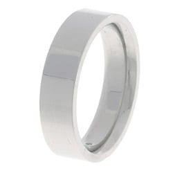 10k White Gold Men's Flat 5-mm Wedding Band