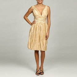 Issue New York Women's V-neck Bubble Hem Cocktail Dress