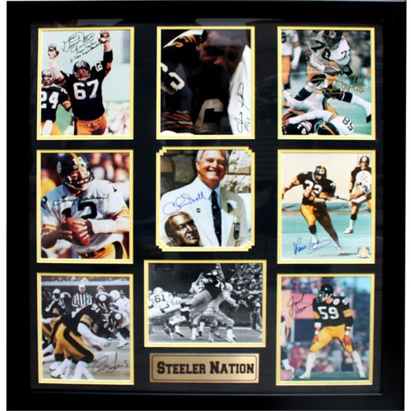 Pittsburgh 'Steeler Nation' - 9 Photo Collage on a 30 x 34 Frame