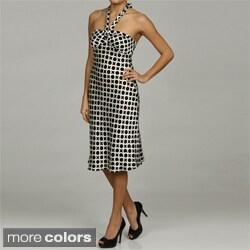 Issue New York Women's Geometric Print Halter Top Dress