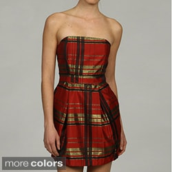 Issue New York Women's Strapless Plaid Cocktail Dress