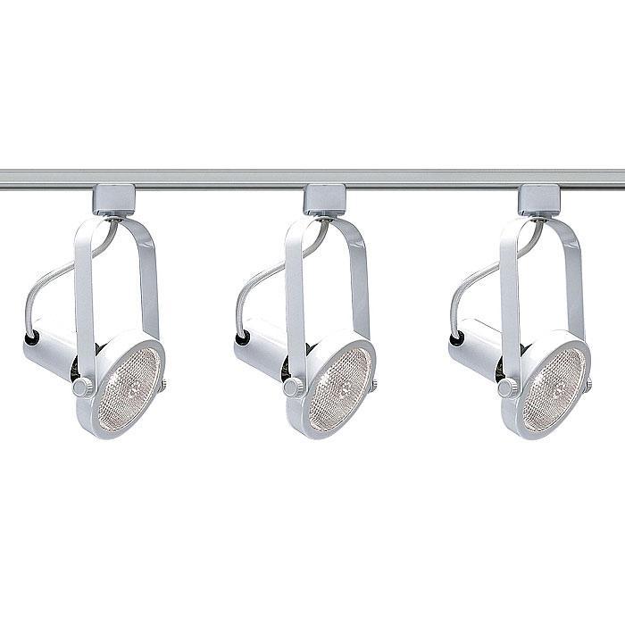 Nuvo Lighting 3-Light White Track Light Kit