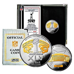 Super Bowl XLV Official Two-tone 24k Flip Coin