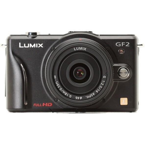 Panasonic Lumix DMC-GF2KBODY 12.1MP Black Digital SLR Camera