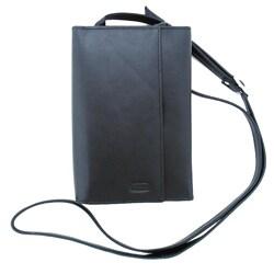 Leatherbay Women's Black Leather Checkbook Wallet