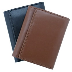 Leatherbay Men's Leather Tan Tri-fold Wallet