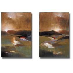 Lanie Loreth 2-piece 'Countryside Journey I and II' Canvas Art Set