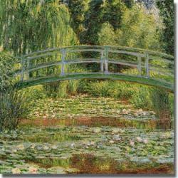Claude Monet 'Japanese Footbridge' Canvas Art