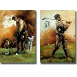 Roya Azim 'The Game of Golf' 2-piece Canvas Art Set