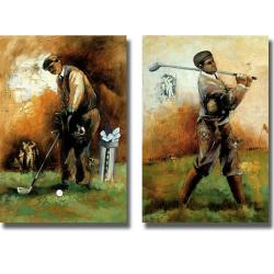 Roya Azim 'The Game of Golf' 2-piece Canvas Art Set