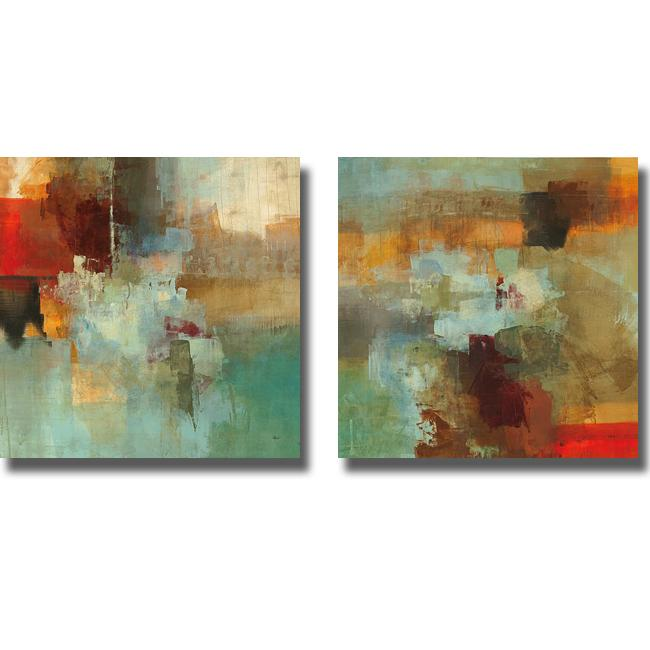 Randy Hibberd 'Big City I and II' 2-piece Canvas Art Set