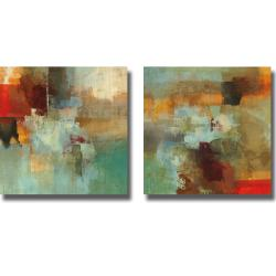 Randy Hibberd 'Big City I and II' 2-piece Canvas Art Set
