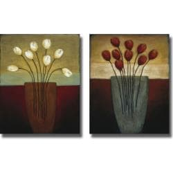 Eve 'Tulips Aplenty I and II' 2-piece Canvas Art Set