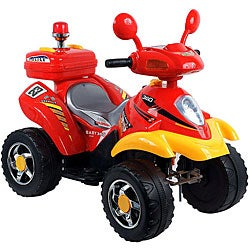 Lil' Rider Red and Yellow Battery-operated 4-Wheeler