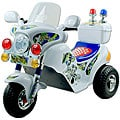 Lil' Rider Battery Operated White Police Motorcycle