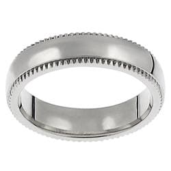 Stainless Steel Women's Coin-edged Ring (5 mm)
