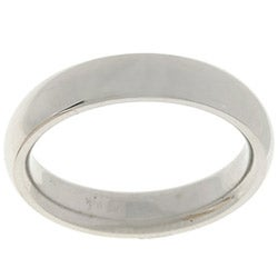 14k White Gold Women's 4-mm Comfort Fit Wedding Band