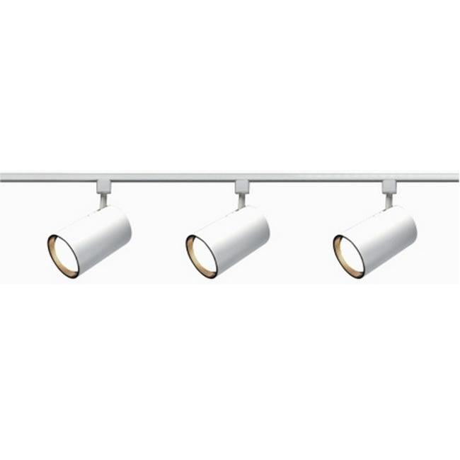 Nuvo Lighting 3-light Longneck White Straight Cylinder Track Light Kit