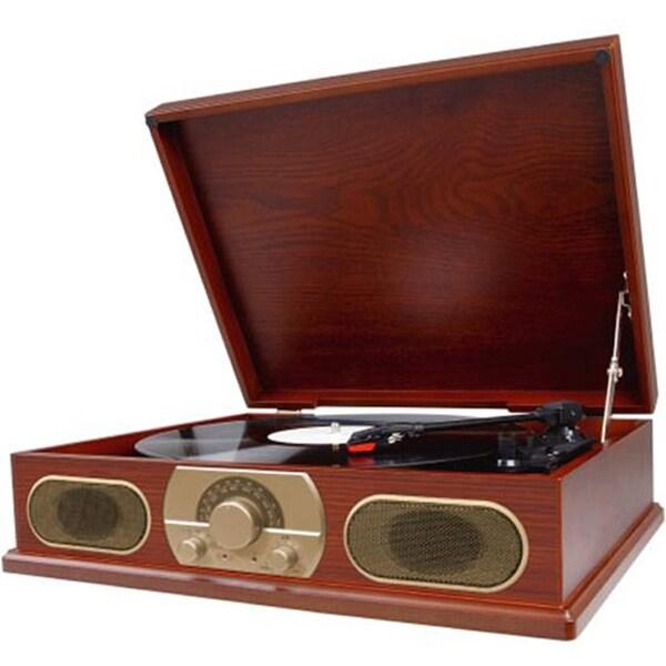Studebaker SB6051 Wooden Turntable with AM/FM Radio 7704903