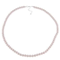 Crystale High-Polish Pink Faux-Pearl 26-Inch Necklace
