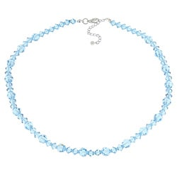Crystale Silvertone Blue Crystal Necklace