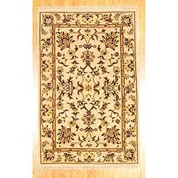 "Afghan Oushak Beige Wool Area Rug (3'9"" x 5'9"")"