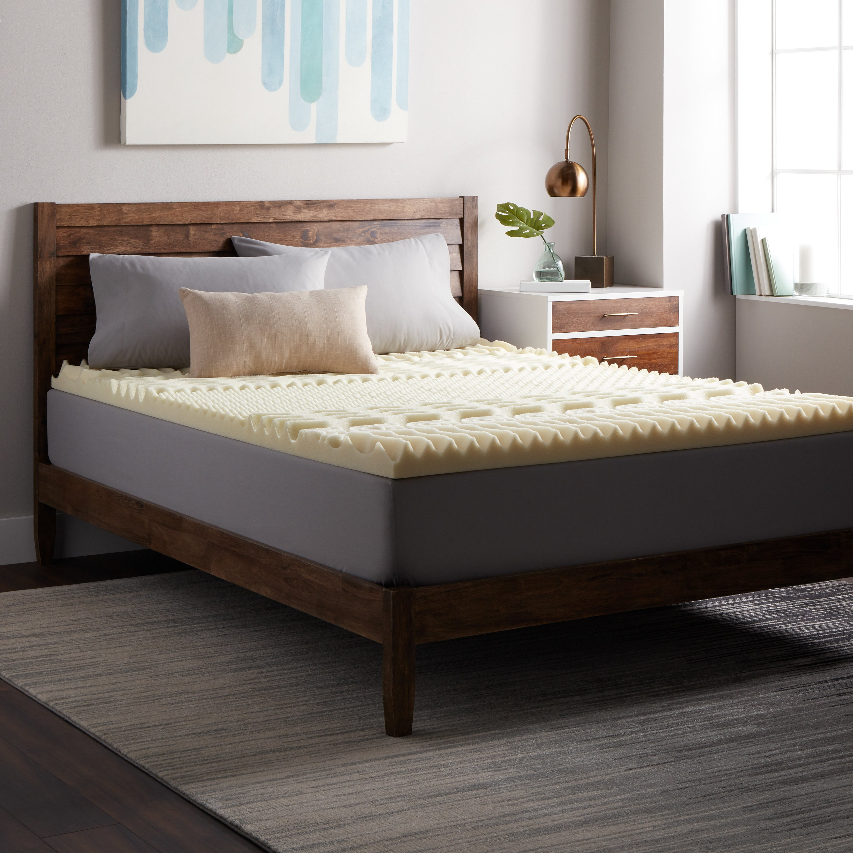Select Luxury 3-inch Memory Foam 7-zone Mattress Topper at Sears.com