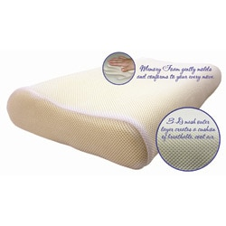 Cool Mesh Memory Foam Contour Pillow