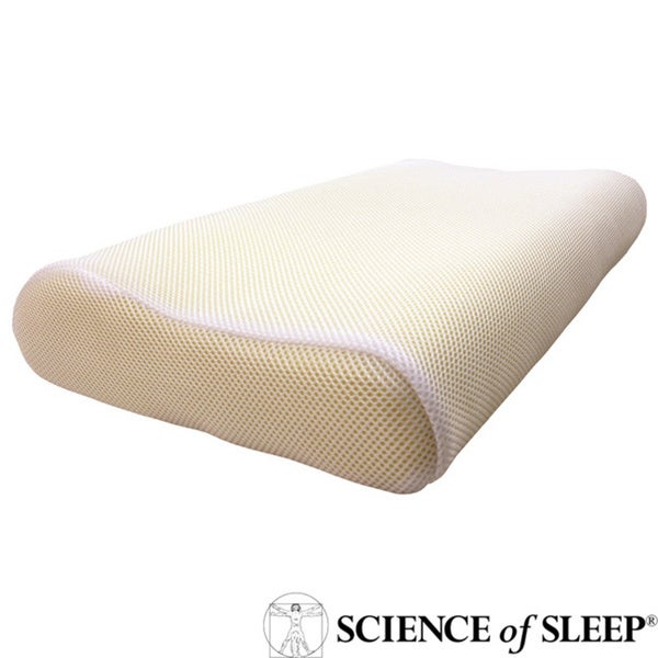 Science of Sleep Cool Mesh Memory Foam Contour Pillow