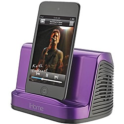 iHome Purple iHM16 Portable MP3 Stereo Speaker