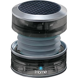 iHome Gunmetal Rechargeable Collapsible Portable Translucent Mini Speaker