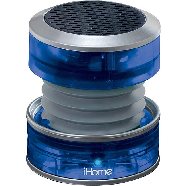 iHome Blue iH60 Rechargeable Collapsible Portable Translucent Mini Speaker