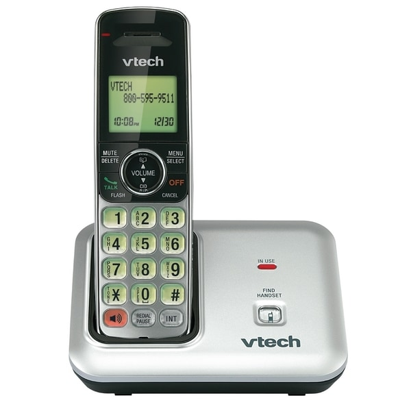 VTech CS6419 DECT Cordless Phone - Silver Black