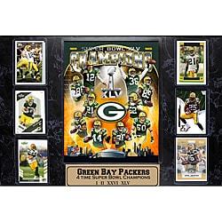 Super Bowl XLV Champion Green Bay Packers Six-card Plaque