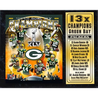 Super Bowl XLV Champion Green Bay Packers Stat Plaque (12x15)