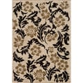 Dream Ivory Geometric Leaves Rug (7'10 x 9'10)
