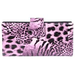 Journee Collection Women's Animal Print Clutch Wallet