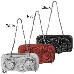 Journee Collection Floral Detail Clutch Bag
