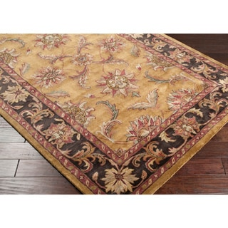 Hand-tufted Ancient Treasures Gold Wool Rug (3'3 x 5'3)