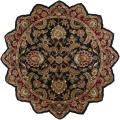 Hand-tufted Grandeur Black Wool Rug (8' Star)