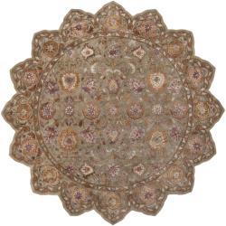 Hand-tufted Grandeur Tan Wool Rug (8' Star)