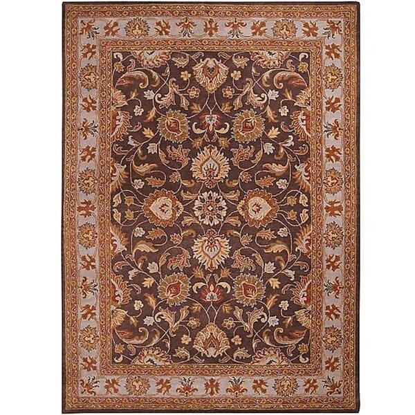Hand-tufted Coliseum Charcoal Wool Rug (10' x 14')