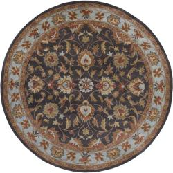 Hand-tufted Coliseum Charcoal Wool Rug (9'9 Round)