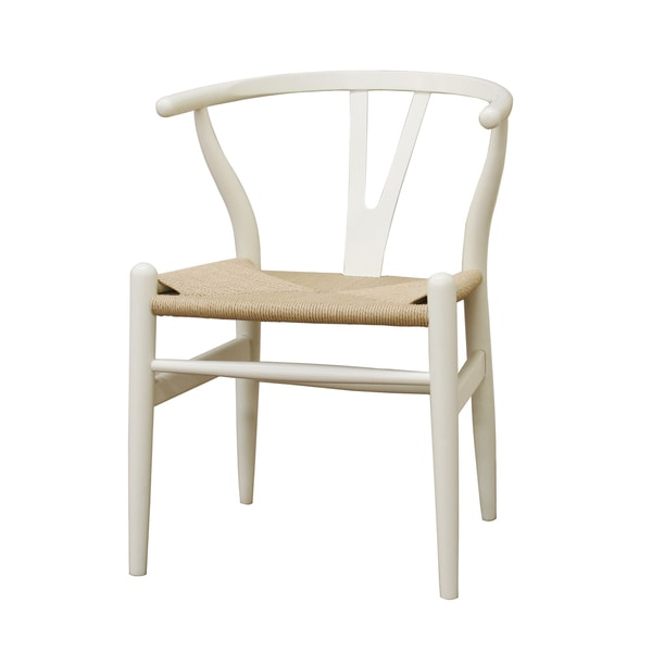 Wishbone Ivory Wood Y Chair