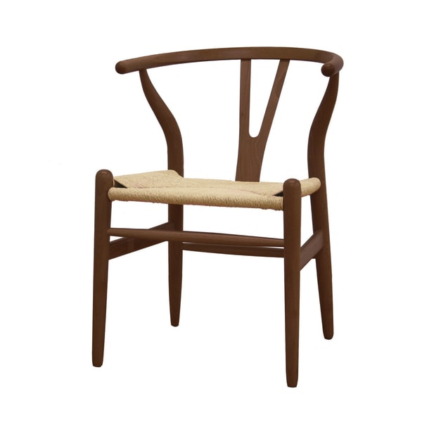 Wishbone Dark brown Wood Y Chair