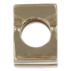 Sterling Essentials 14k Gold over Silver 'F' Alphabet Bead