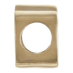 Sterling Essentials 14k Gold over Silver 'Q' Alphabet Bead