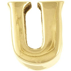 Sterling Essentials 14k Gold over Silver 'U' Alphabet Bead