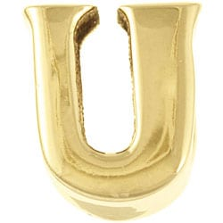 Sterling Essentials 14k Gold over Silver 'U' Alphabet Bead